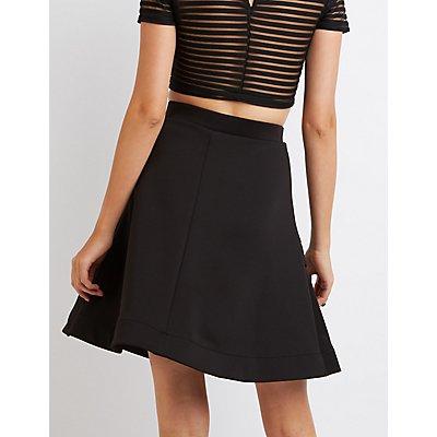 Full Tiered Skater Skirt
