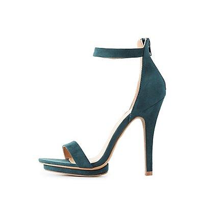 Two-Piece Platform Dress Sandals