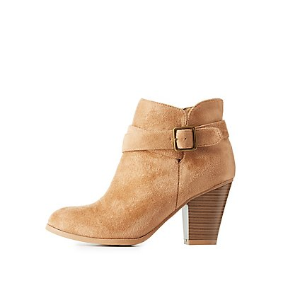 Buckled Almond Toe Ankle Booties