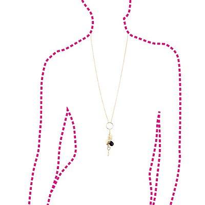 Plus Size Charm Drop Necklace