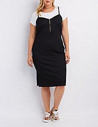 Plus Size Ribbed Bodycon Dress | Charlotte Russe