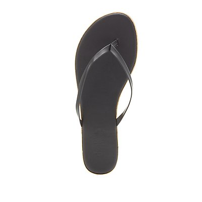 Gold-Trim Thong Sandals
