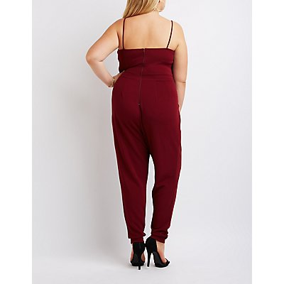 Plus Size Caged Yoke Jumpsuit