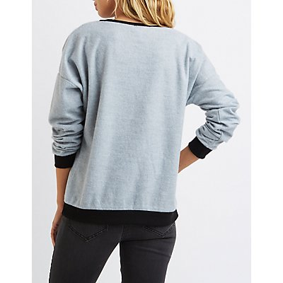 Brooklyn Graphic Fuzzy Sweatshirt