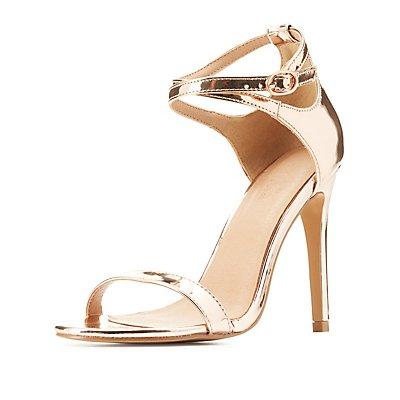 Metallic Two-Piece Dress Sandals