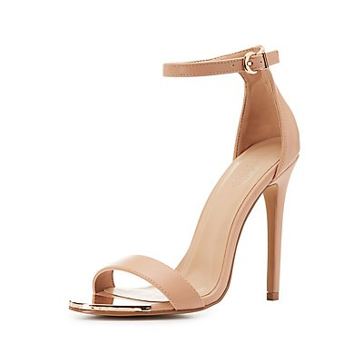 Gold-Tipped Two-Piece Dress Sandals