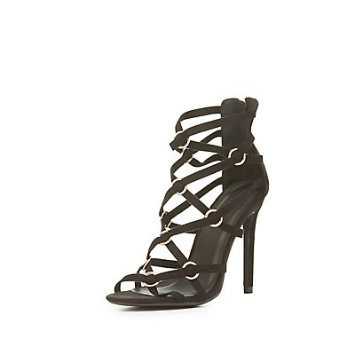 Strappy Caged Dress Sandals