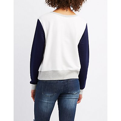 Can't Even Colorblock Sweatshirt