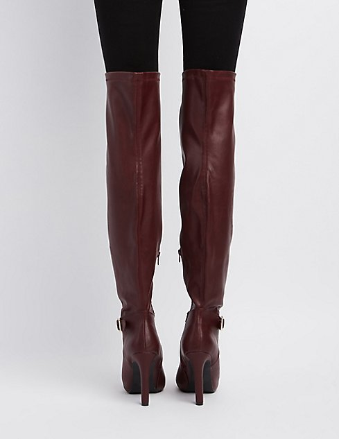 c38a41949f1 Qupid Pointed Toe Over-The-Knee Boots