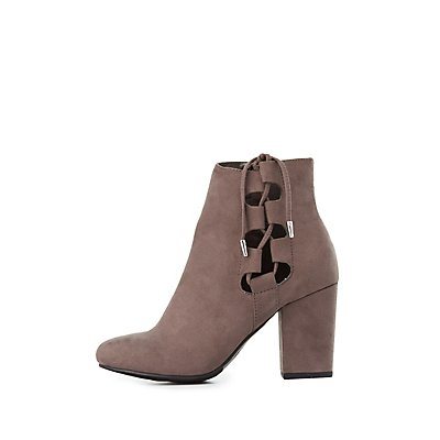 Lace-Up Side Ankle Booties