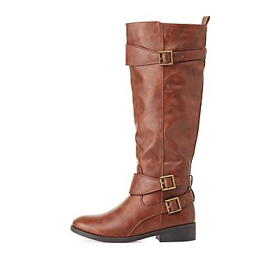 Qupid Buckled Riding Boots