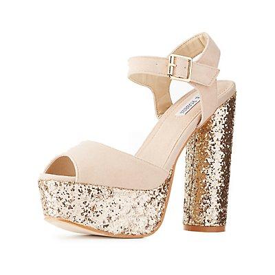 Glittery Platform Sandals