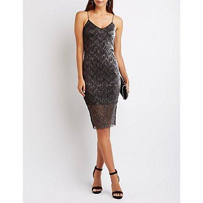Shimmer Strappy Midi Dress