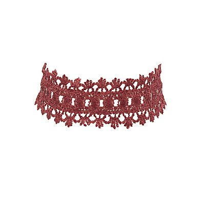 Scalloped Crochet Choker Necklace
