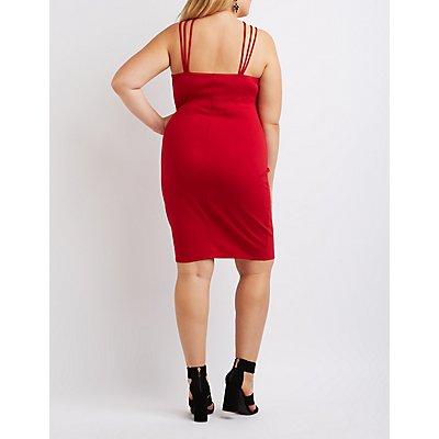 Plus Size Strappy Bodycon Dress