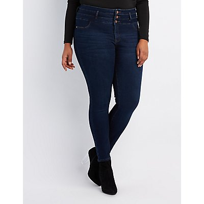 Plus Size Skinny Jeans: High-Waisted & Ripped