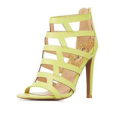 Qupid Caged Dress Sandals