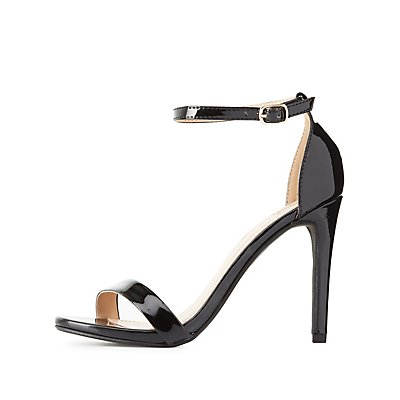 Patent Two-Piece Dress Sandals