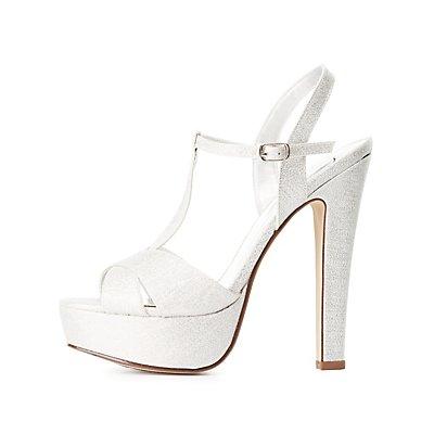 T-Strap Platform Dress Sandals