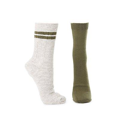 Knit Boot Socks - 2 Pack