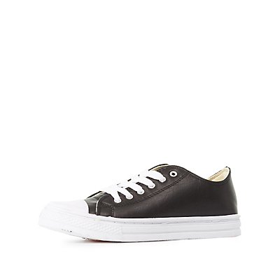 Qupid Cap Toe Lace-Up Sneakers