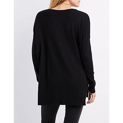 Oversized Drop Shoulder Sweater