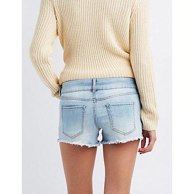 Refuge Mid-Rise Shortie Denim Shorts