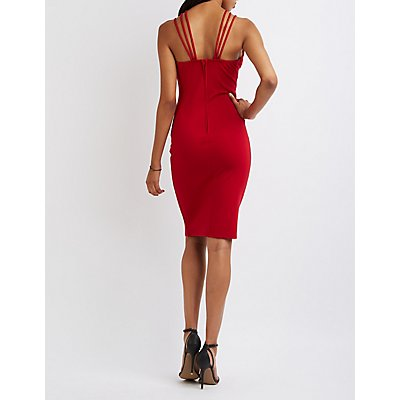 Strappy Caged Bodycon Dress