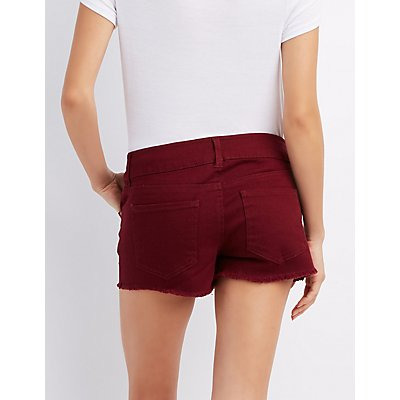 Refuge Mid-Rise Shortie Shorts