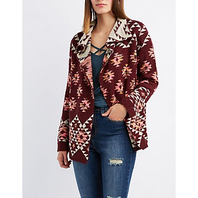 Tribal Nubby Open Cardigan