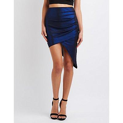 Shimmer Asymmetrical Wrapped Skirt
