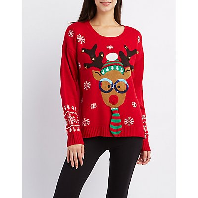 Light Up Reindeer Sweater