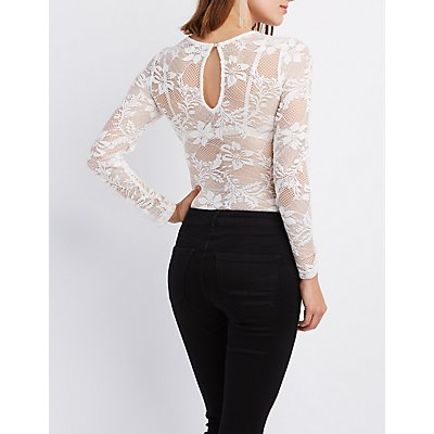 Sheer Mesh & Lace Bodysuit