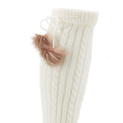 Faux Fur Pom Pom Leg Warmers