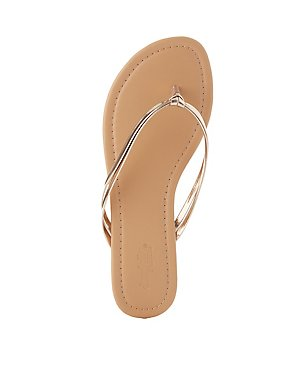 Metallic Knotted Thong Sandals
