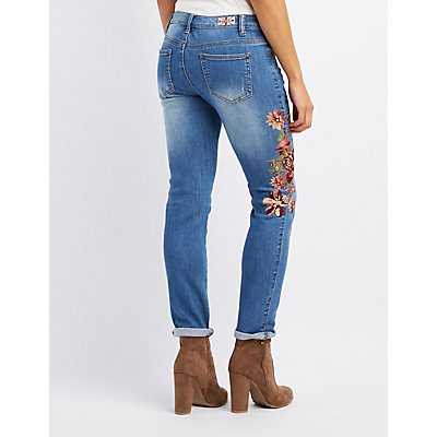 Machine Jeans Embroidered Skinny Jeans
