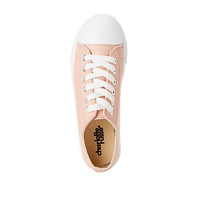 Cap Toe Lace-Up Sneakers