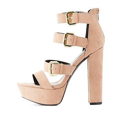 Qupid Chunky Platform Sandals