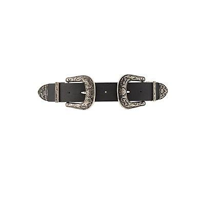 Plus Size Western Buckle Belt