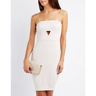 Shimmer Strapless Bodycon Dress