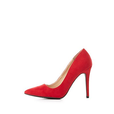Faux Suede Pointed Toe Pumps