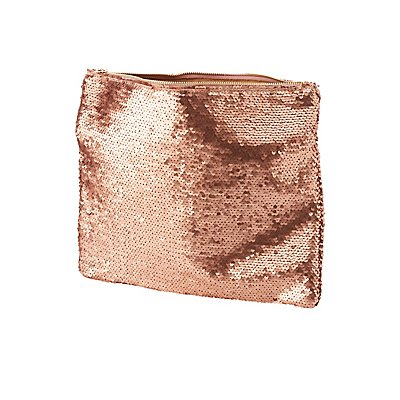 Sequin Zip Clutch