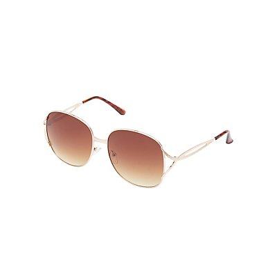 Metal Oversize Square Sunglasses