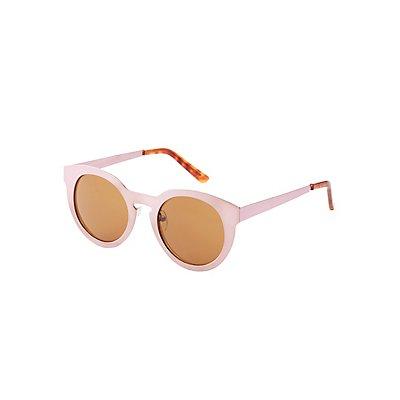 Metal Round Cat Eye Sunglasses