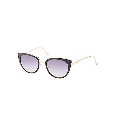Metal-Trim Cat Eye Sunglasses