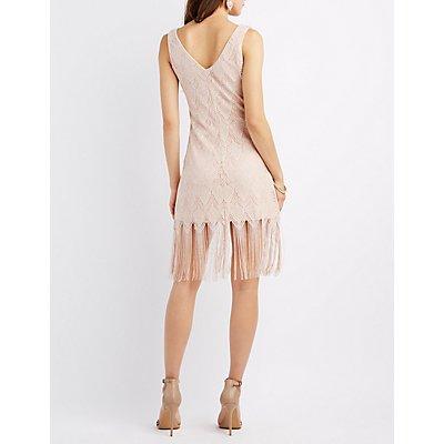 Shimmer Fringe Shift Dress