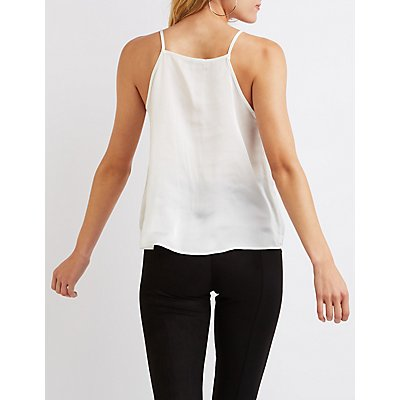 Lace-Trim Camisole Top