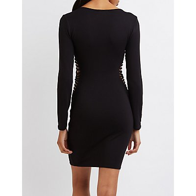 Caged-Side Bodycon Dress