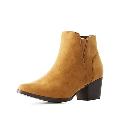 Qupid Pointed Toe Booties