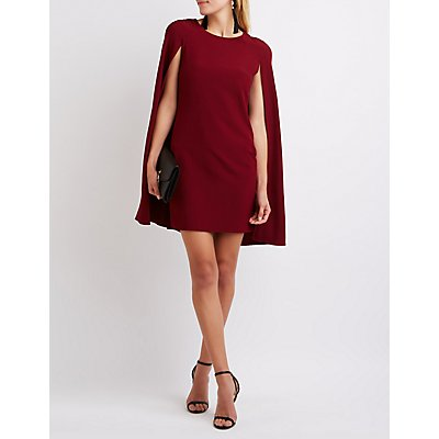 Structured Cape Bodycon Dress